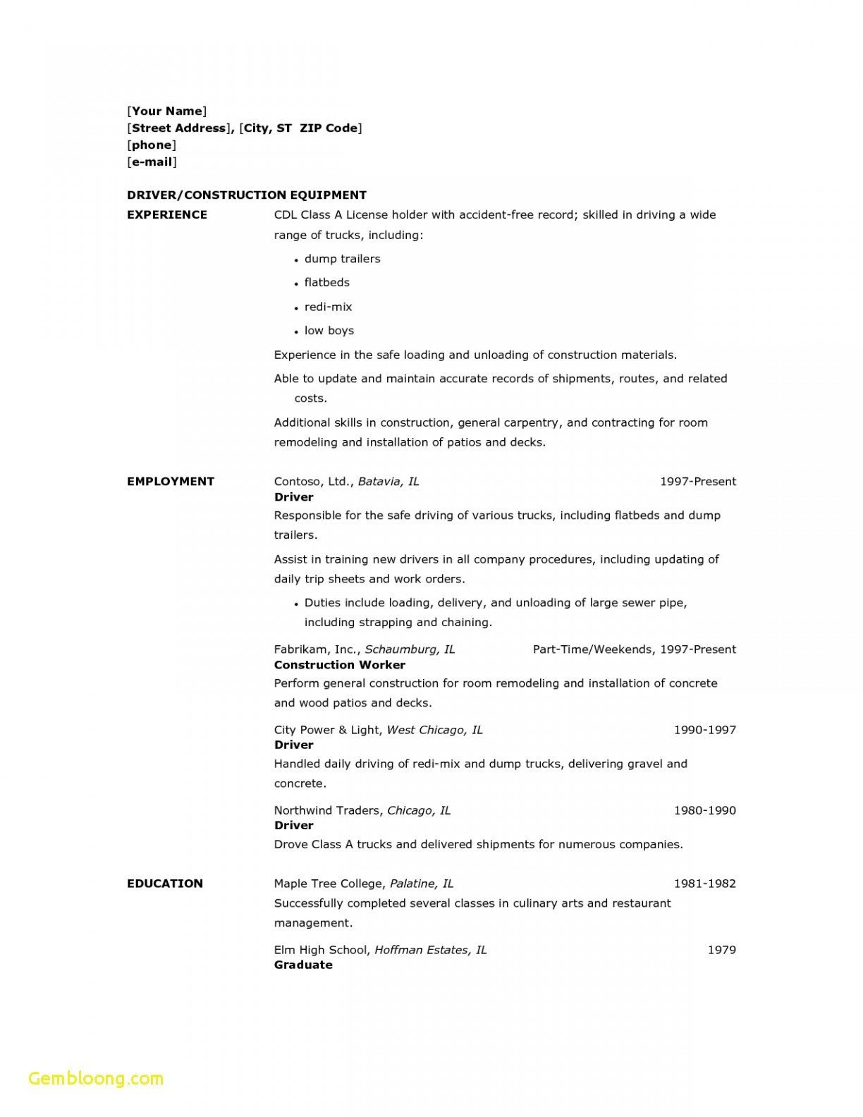 Cdl Truck Driver Resume - Cdl Truck Driver Resume New 17 Truck Driving Resume Examples