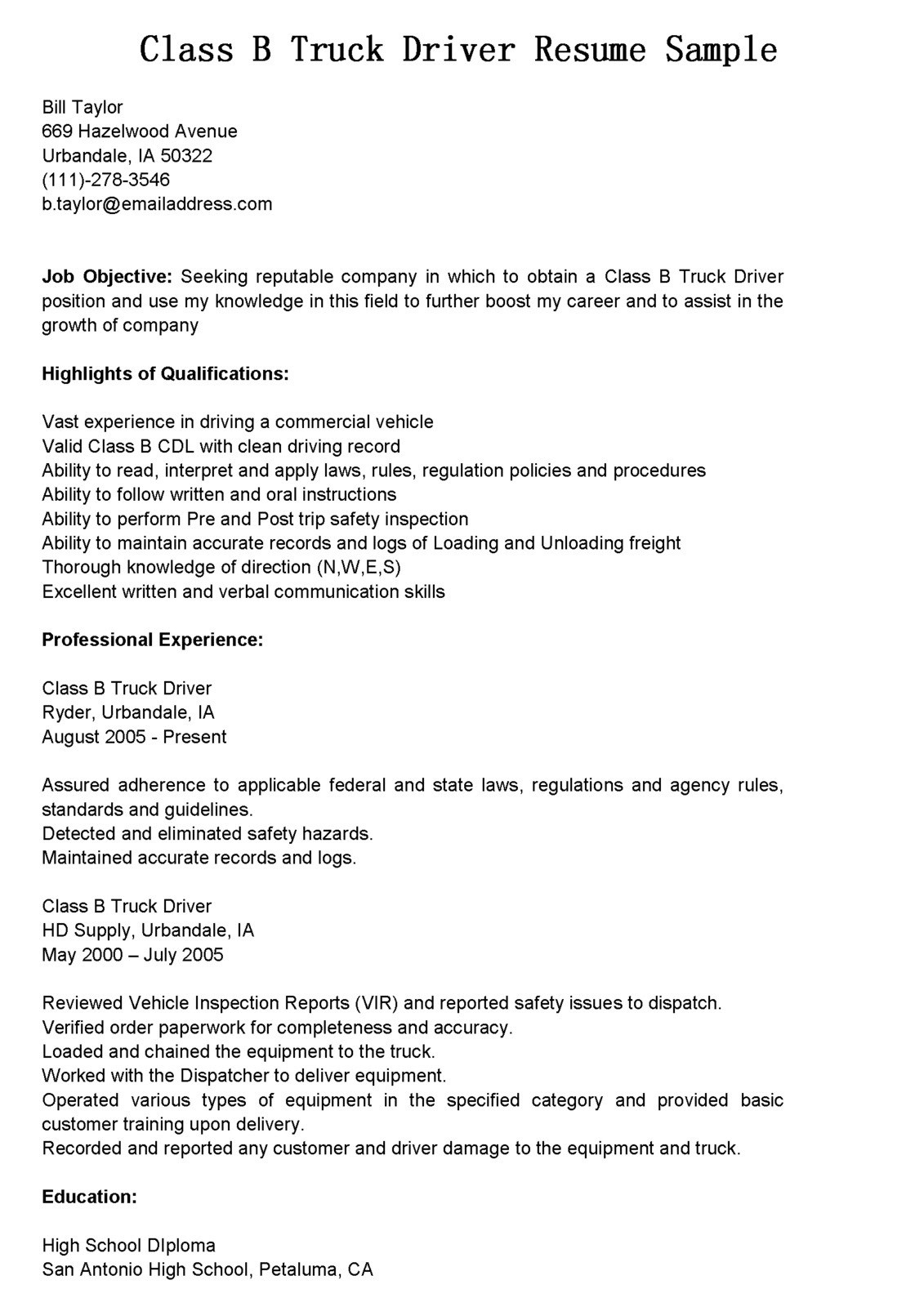 Cdl Truck Driver Resume - Truck Driving Resume New Truck Driving Resume Myacereporter