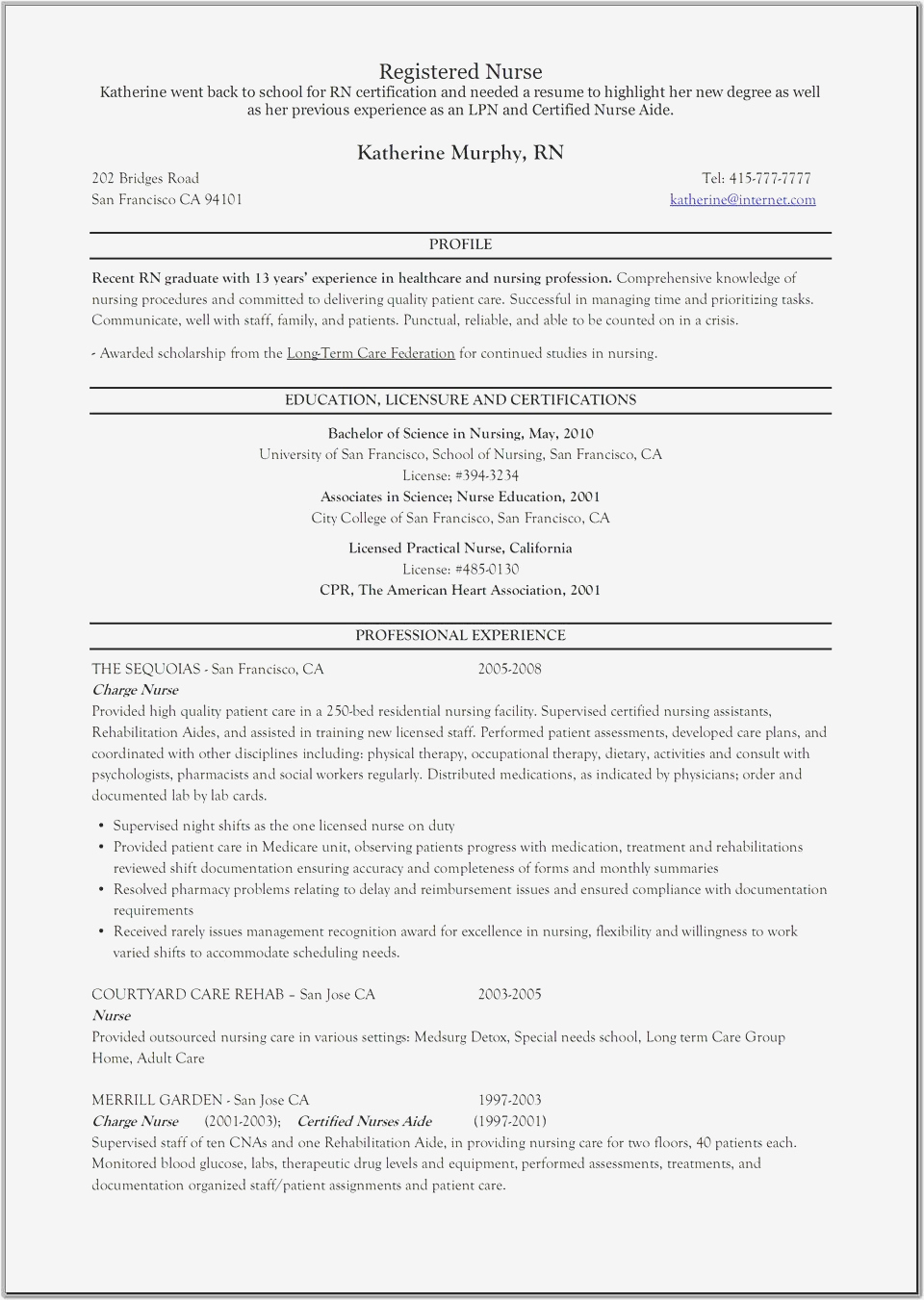 Charge Nurse Resume - Charge Nurse Resume Unique Elegant New Nurse Resume Awesome Nurse