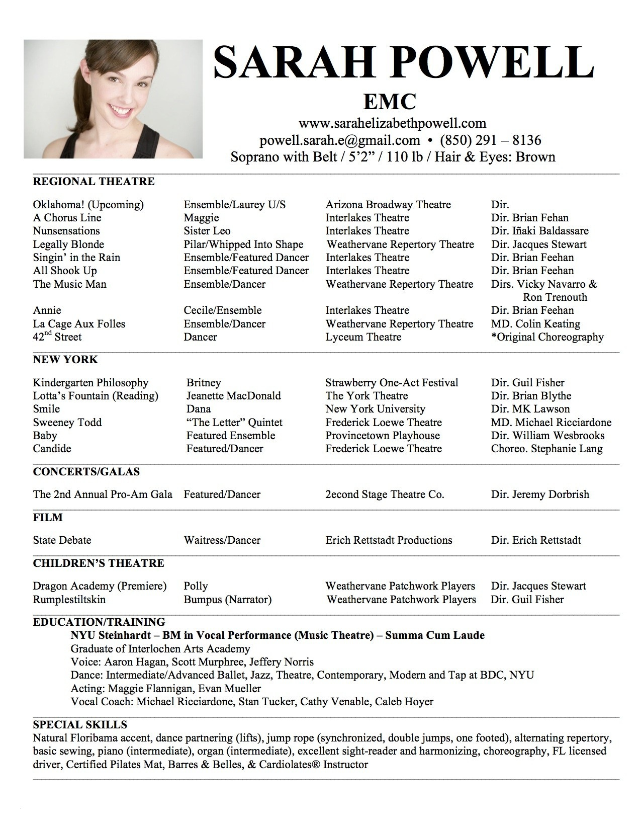 Child Acting Resume Template - Child Acting Resume Template Unique Child Acting Resume Template