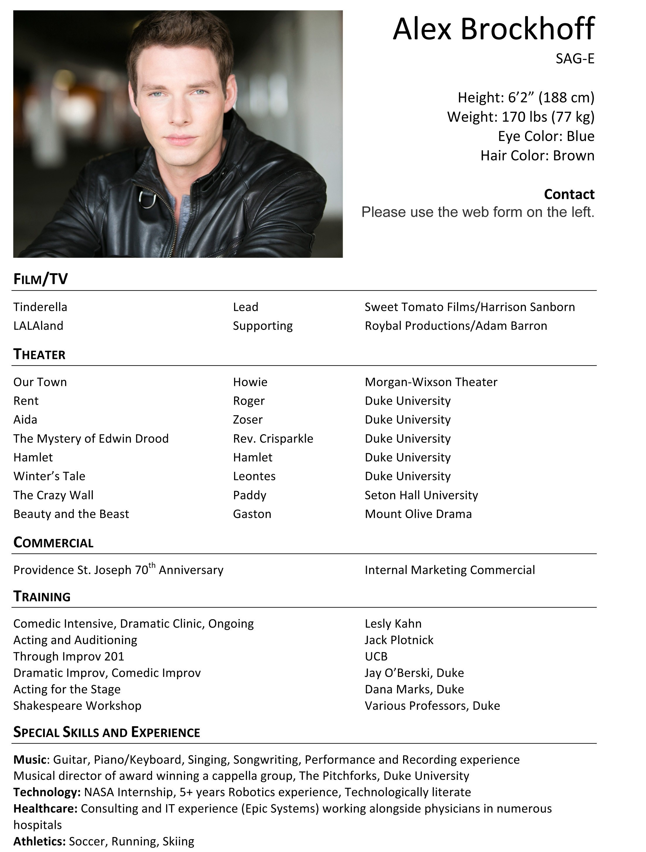 Child Actors Resume Template - Child Acting Resume Sample Fresh Child Actor Resume Awesome Child