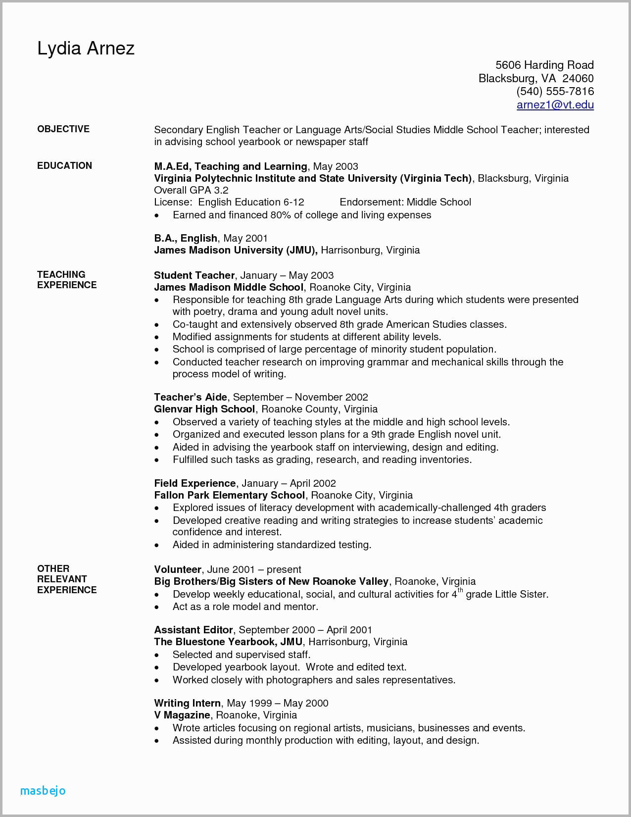 Child Care Resume - 10 11 Child Care Teacher Resume Sample