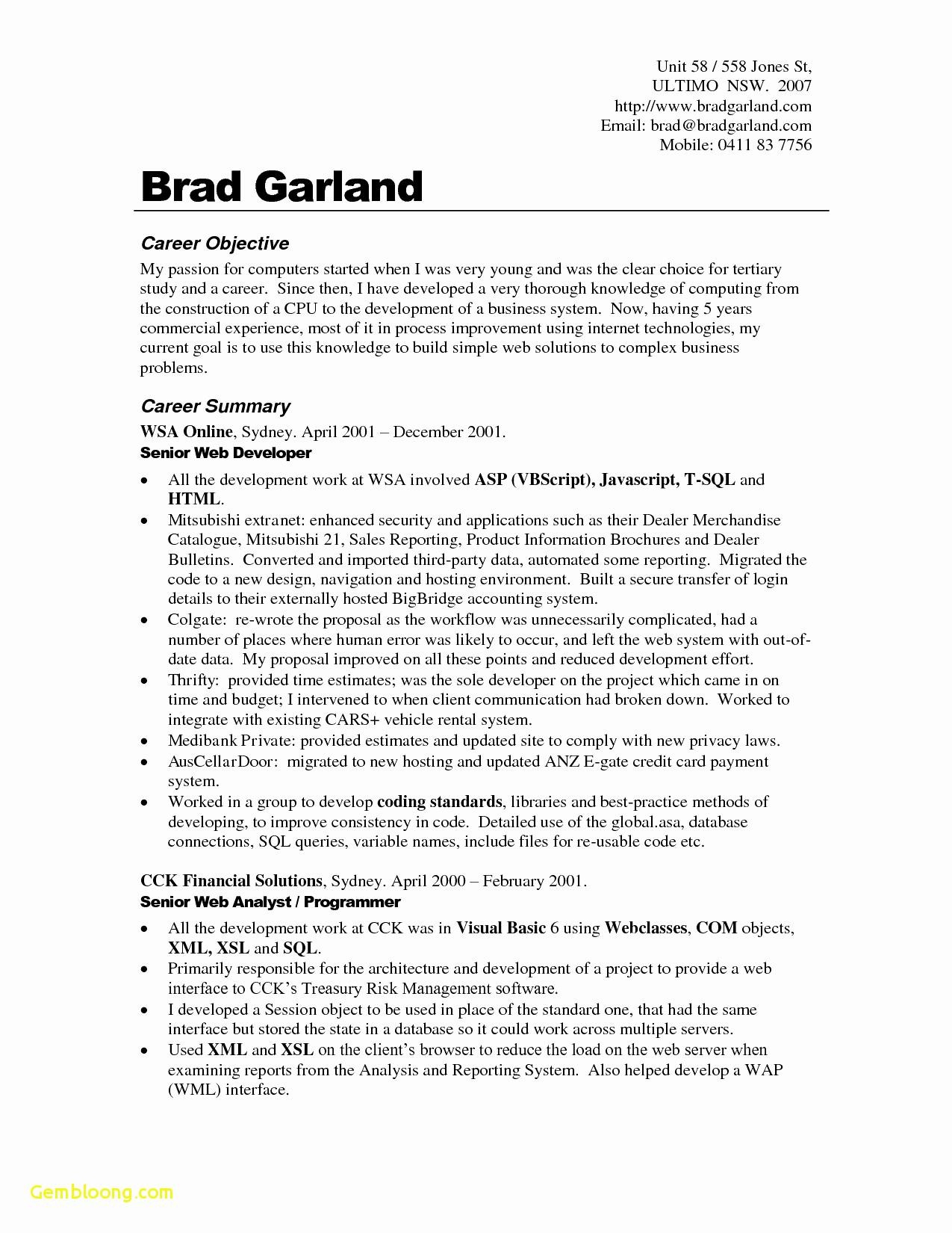 Chronological Resume Template - Professional Resume Template Download New Chronological Resume