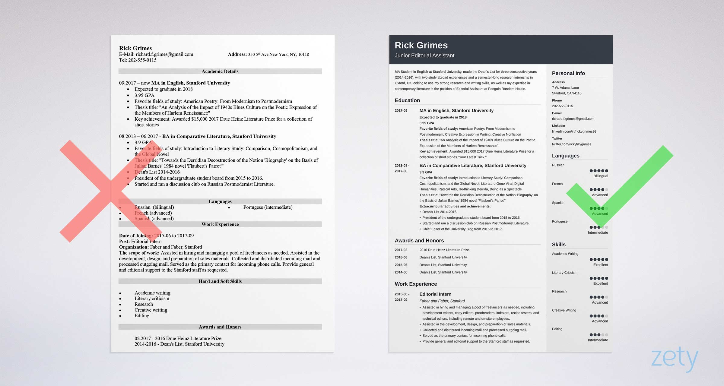 Chronological Resume Template 2018 - Entry Level Resume Sample and Plete Guide [ 20 Examples]