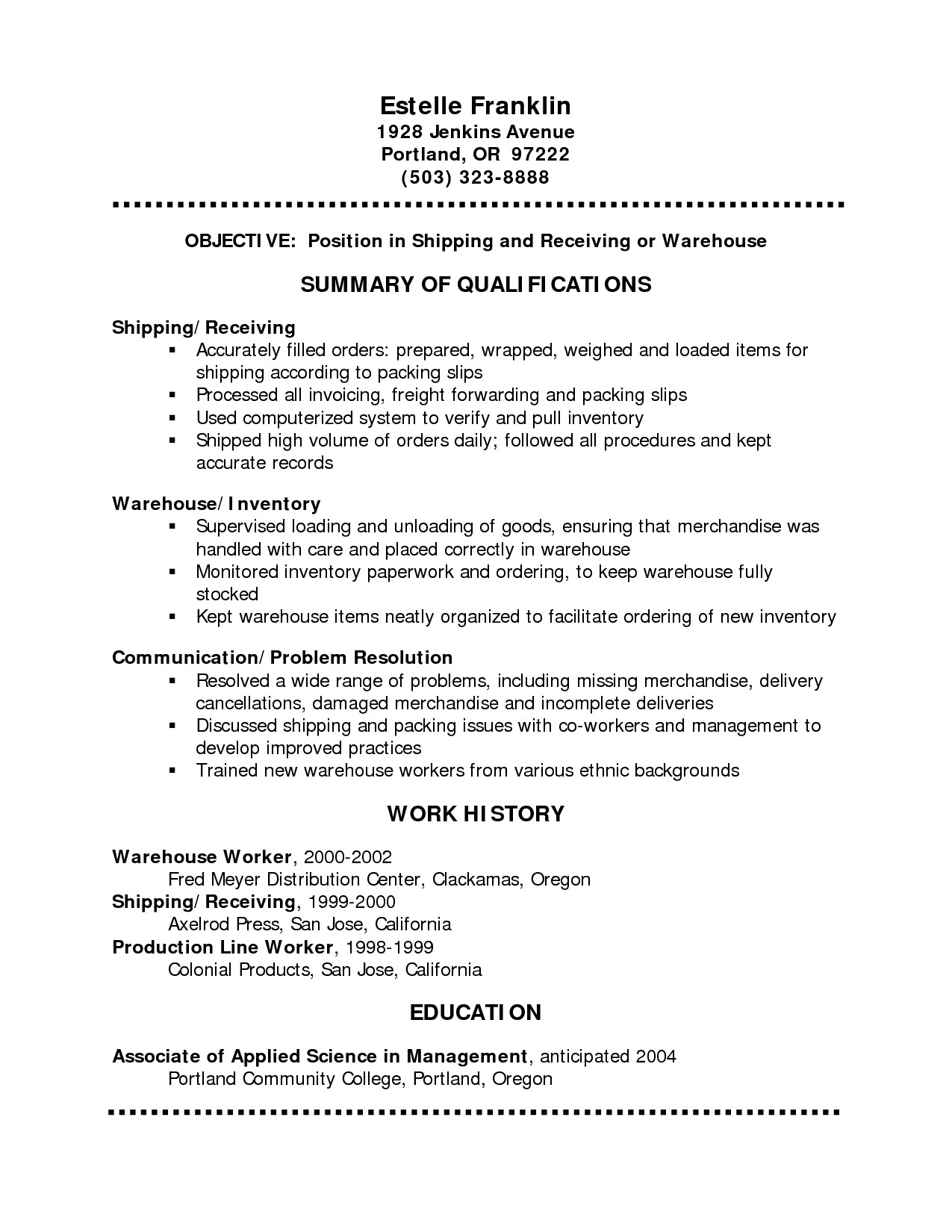 Chronological Resume Template Pdf - Sample Chronological Resume format Reference Sample Resume
