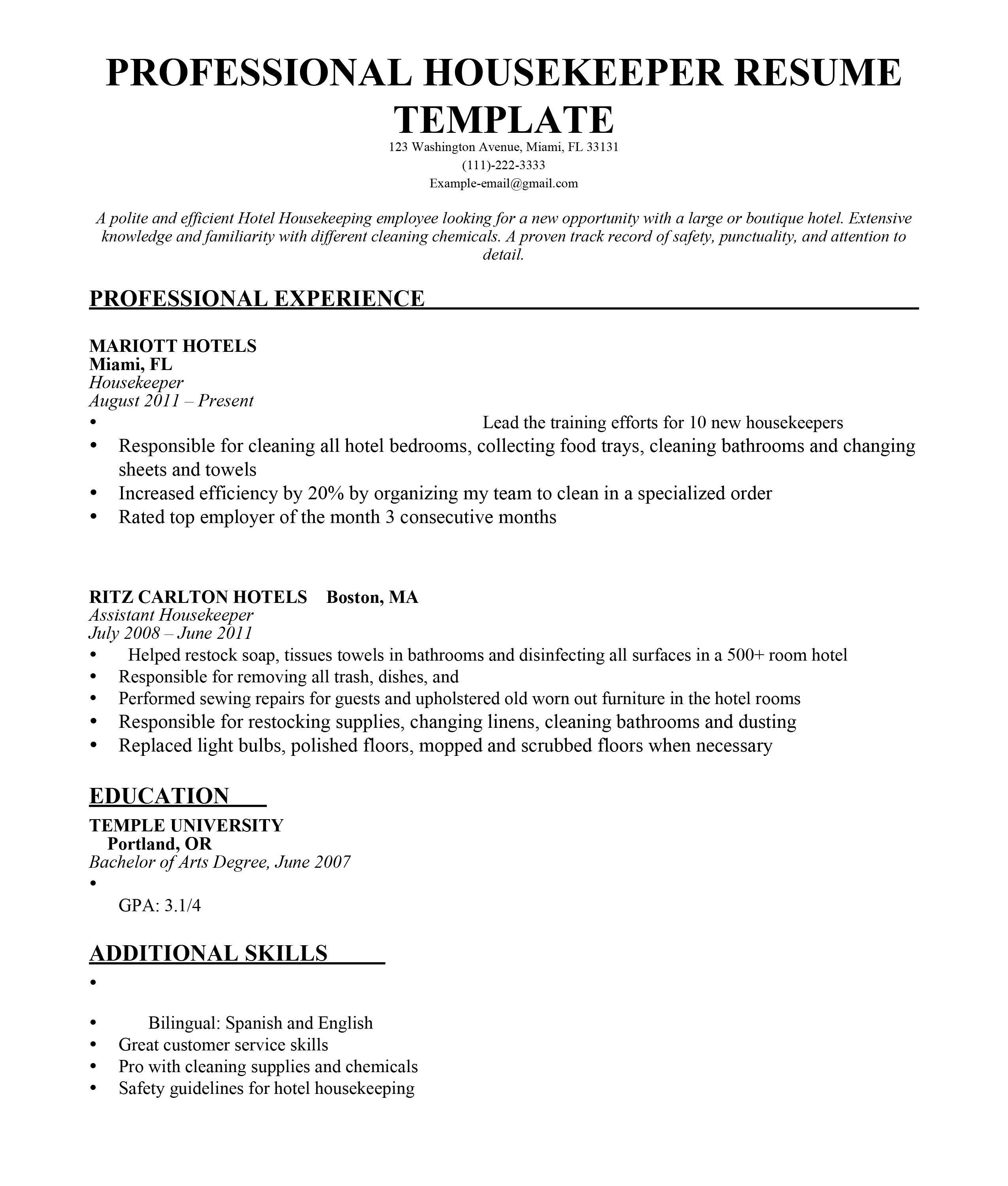 Cleaning Service Resume - Cleaning Service Resume Awesome Resume for Cleaner Awesome House