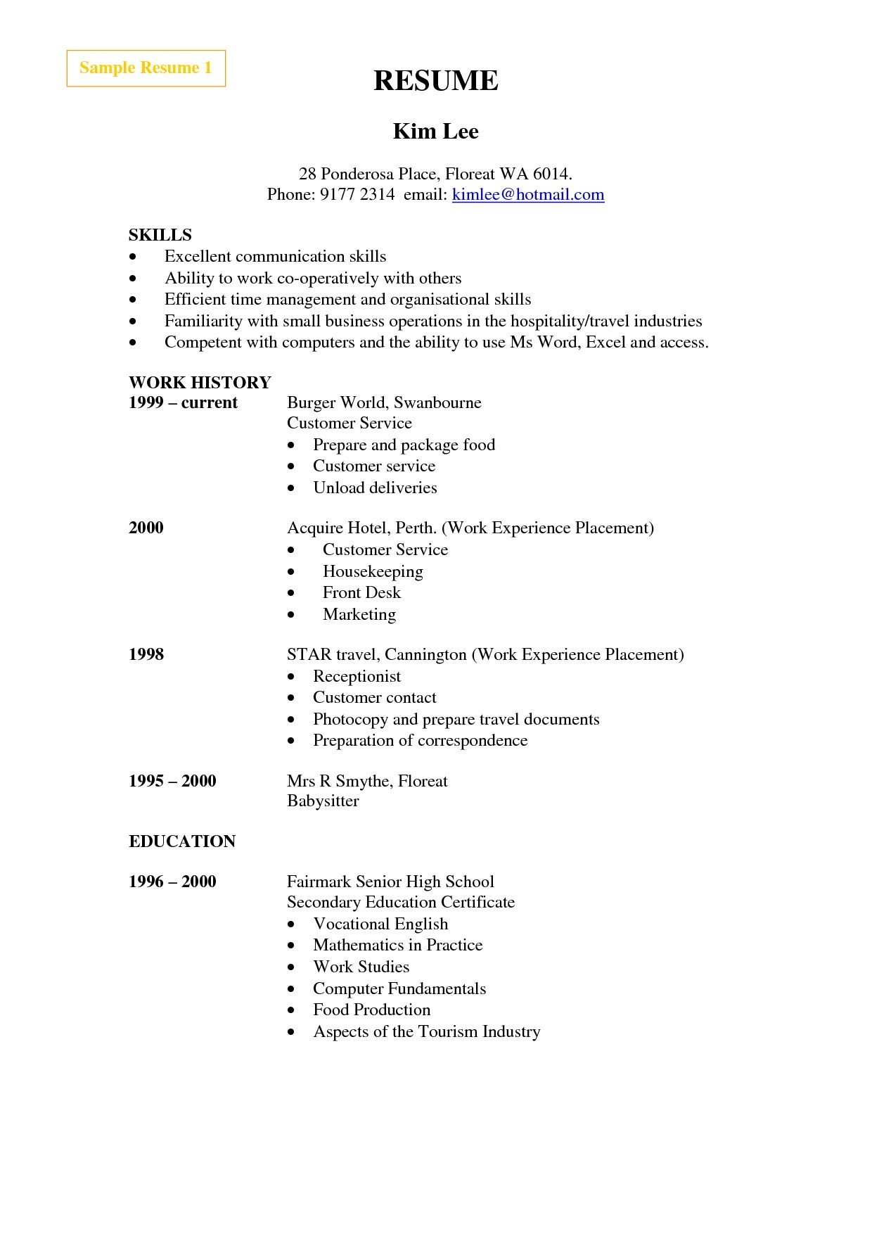 Cleaning Service Resume - 21 House Cleaning Resume Sample