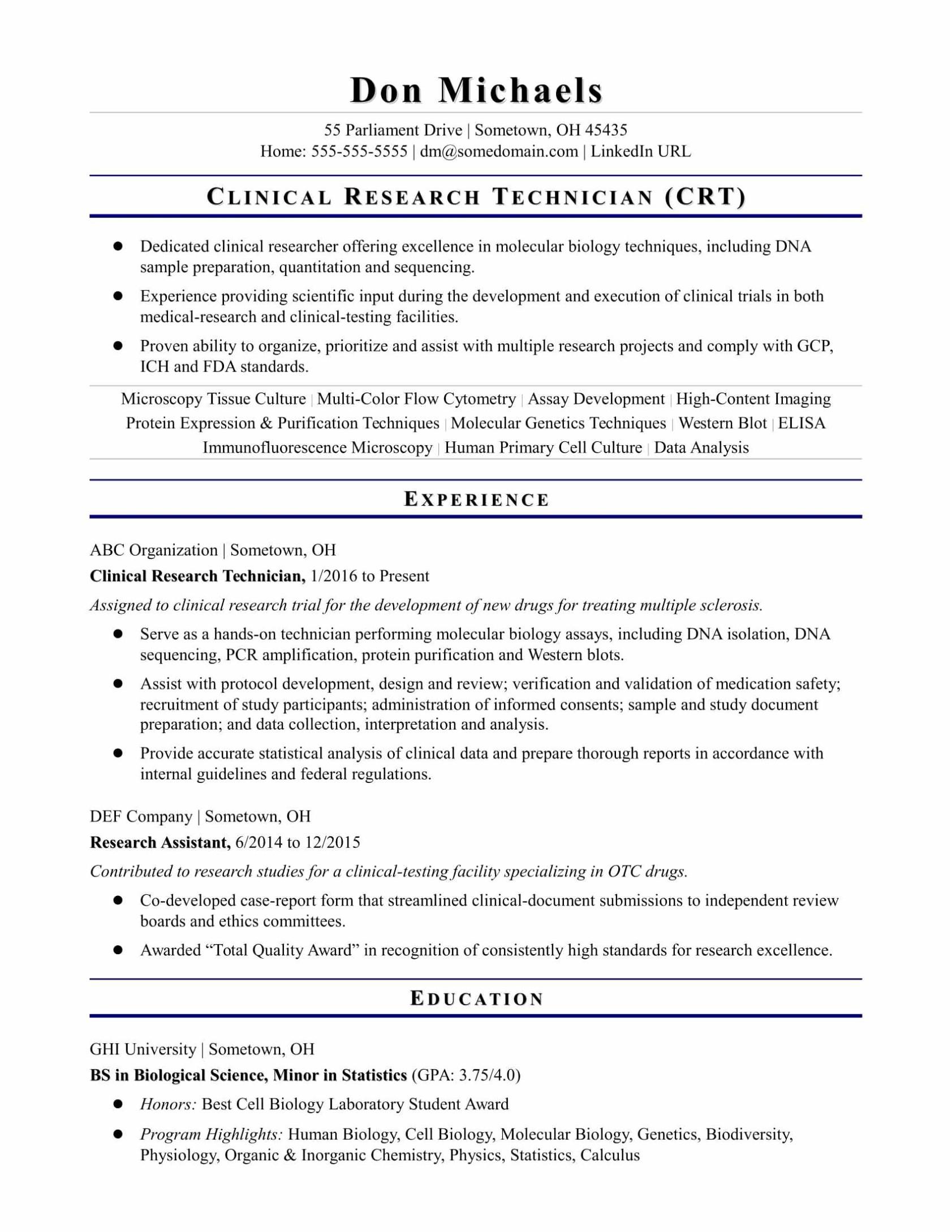 Clinical Research Resume - Sample Pharmacist Resume New 18 Inspirational Pharmacist Resume