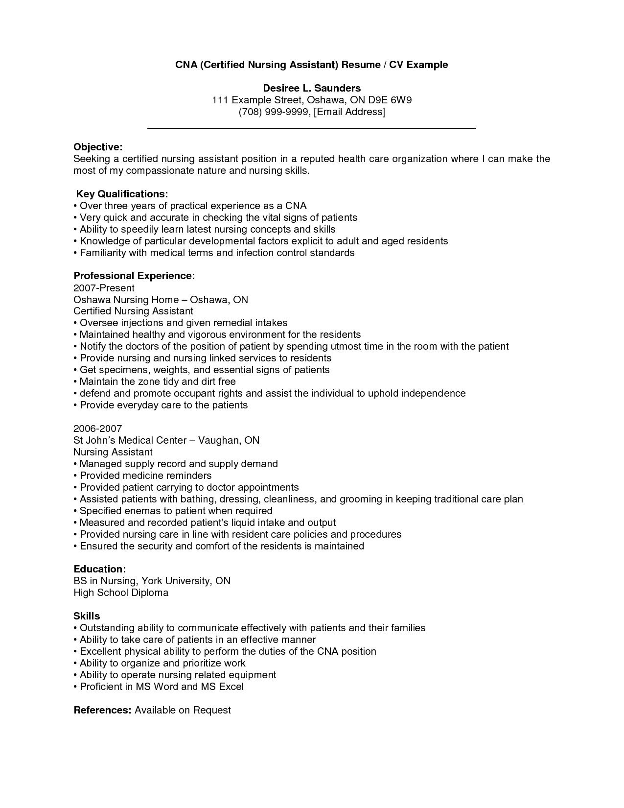 Cna Resume with No Experience - Cna Resume No Experience Elegant Professional Nursing Resume