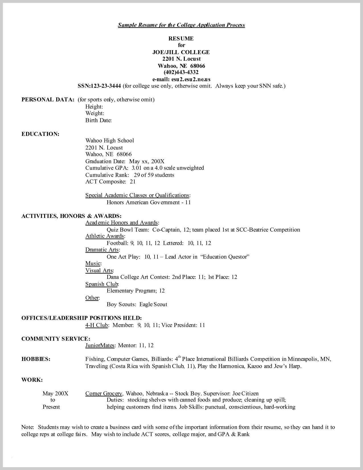 College athlete Resume Template - College Application Resume Template Microsoft Word Fresh format