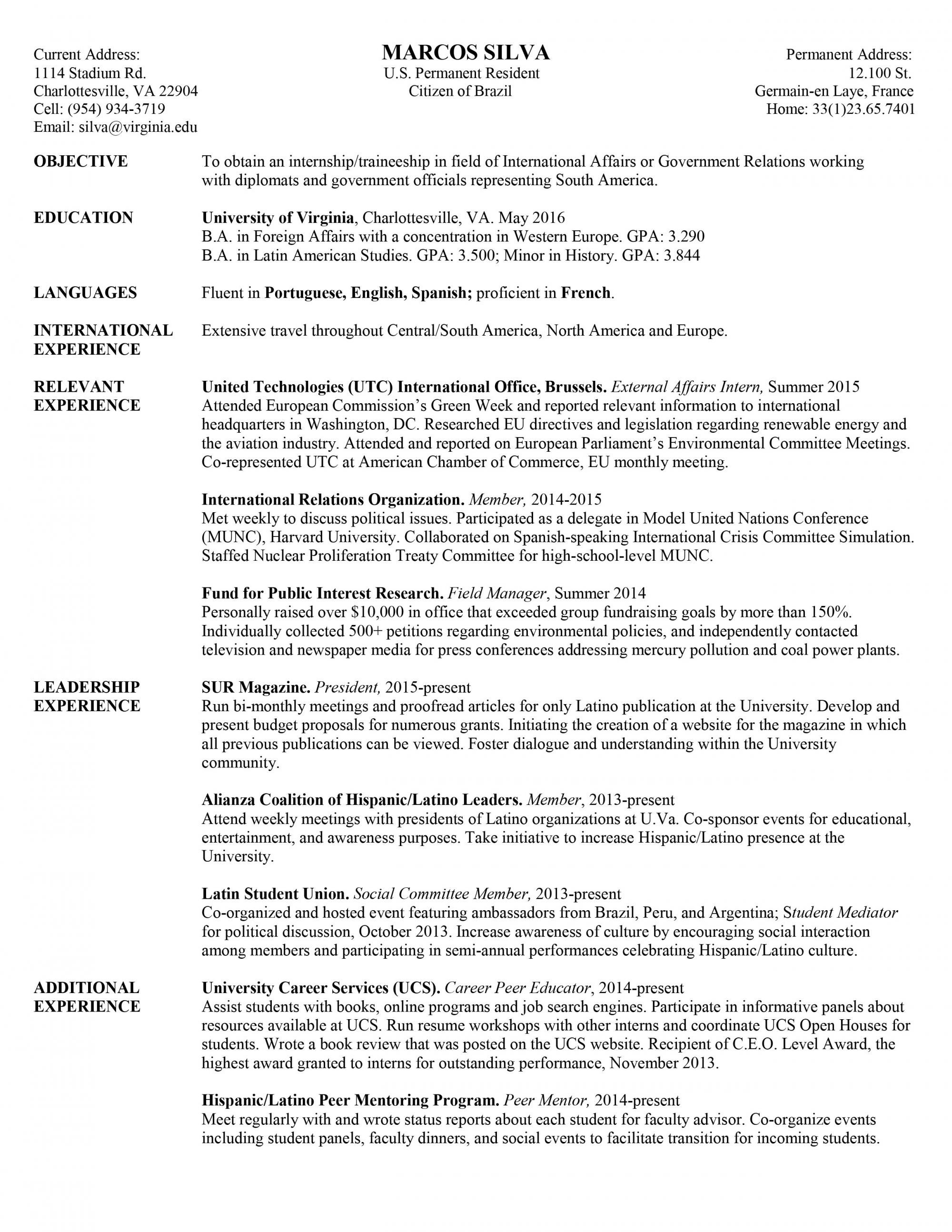 College Freshman Resume Template - Resume for College Freshmen Best Sample College Freshman Resume