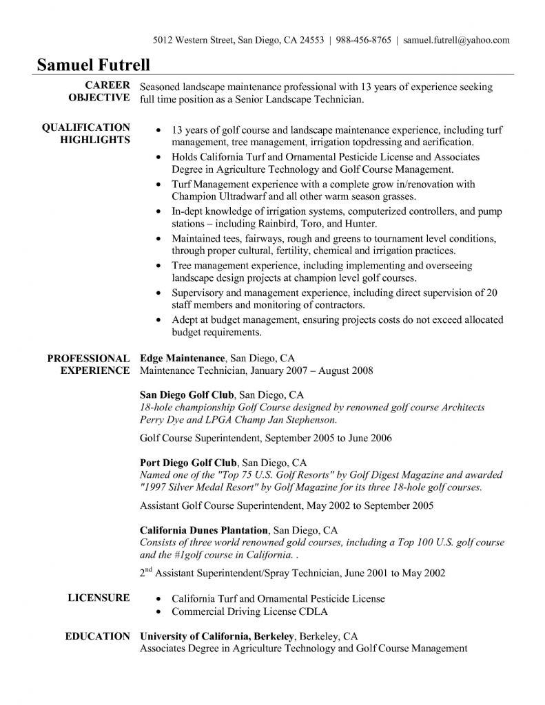 College Golf Resume Template - Golf Course Superintendent Resume Save Elegant Free Infographic