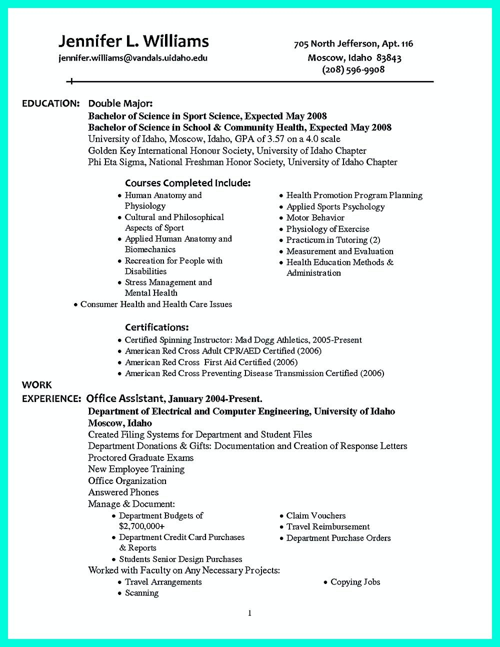 College Golf Resume Template - It is Necessary to Make Well organized College Golf Resume A Well