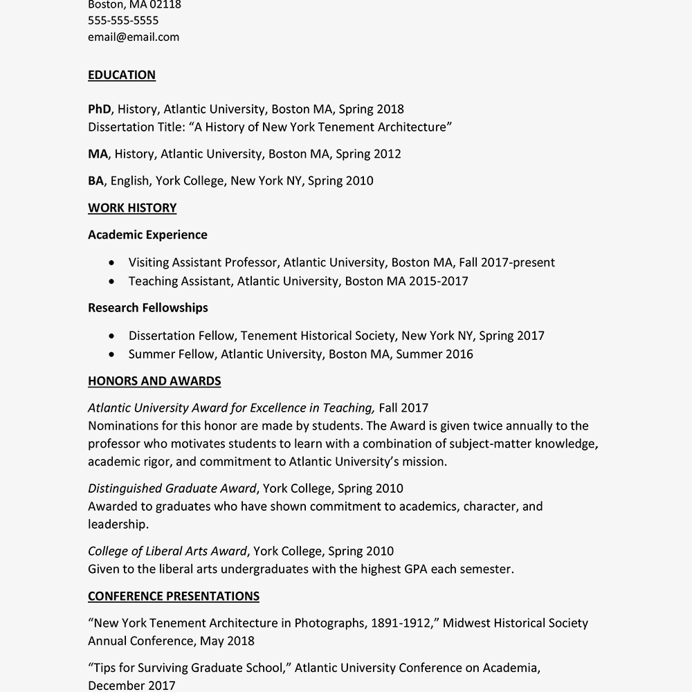 College Scholarship Resume Template - Curriculum Vitae Cv Template