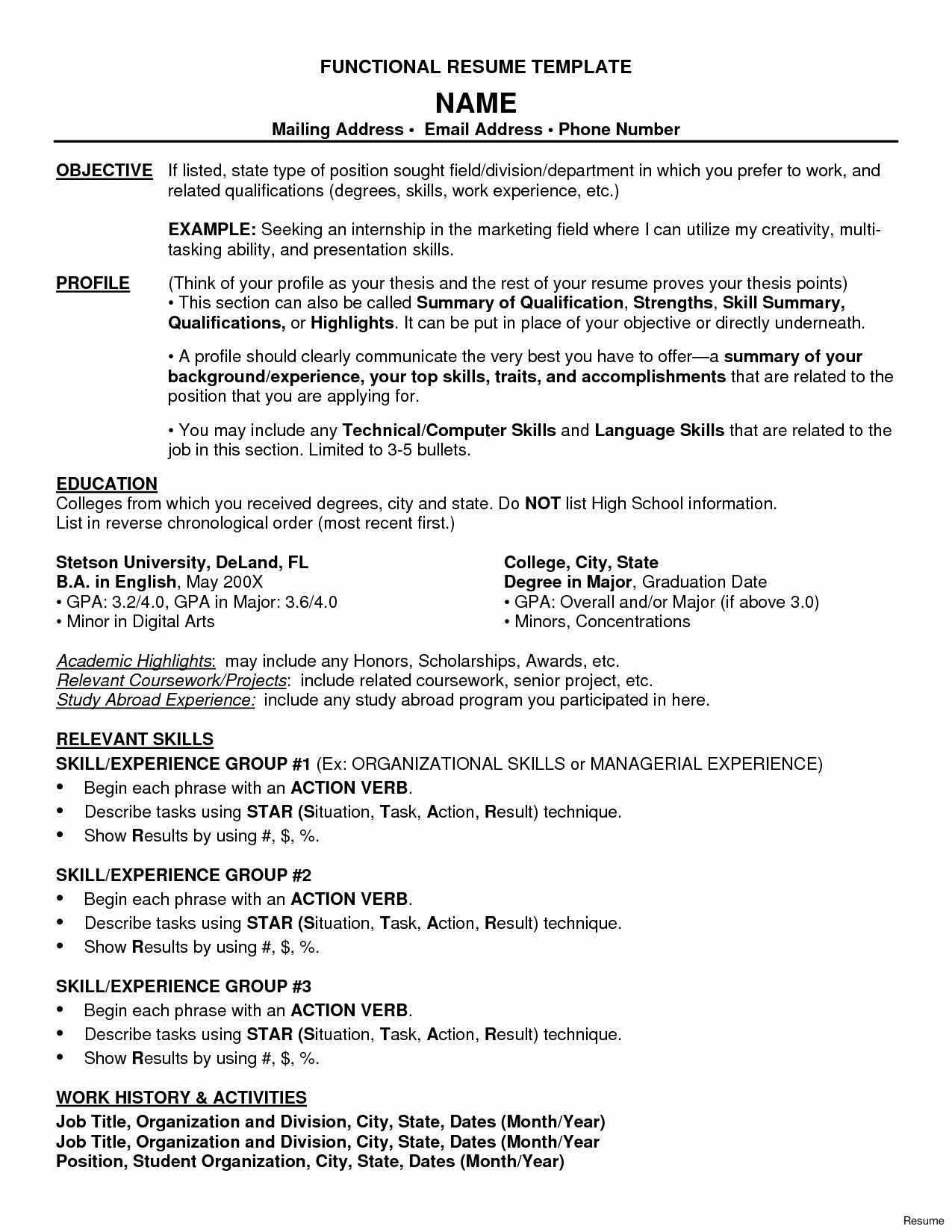 Combination Resume Template for Stay at Home Mom - Sample Resume for Stay at Home Mom Returning to Work