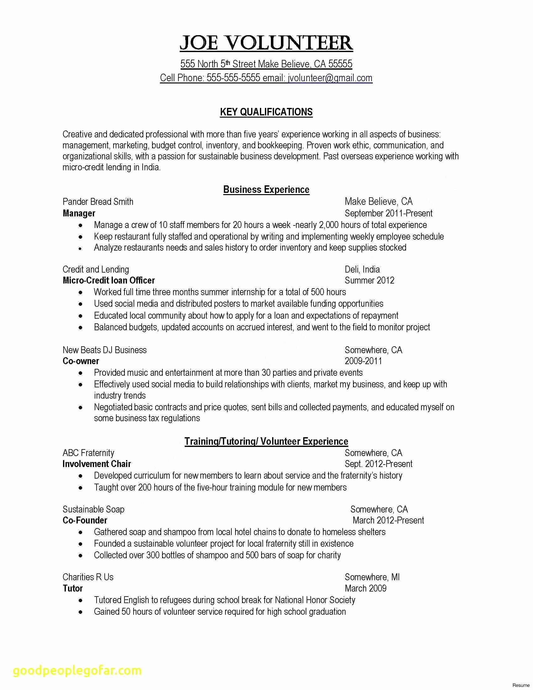 Common App Resume Example - Good Resume Sample – Resume Example for A Job 2018