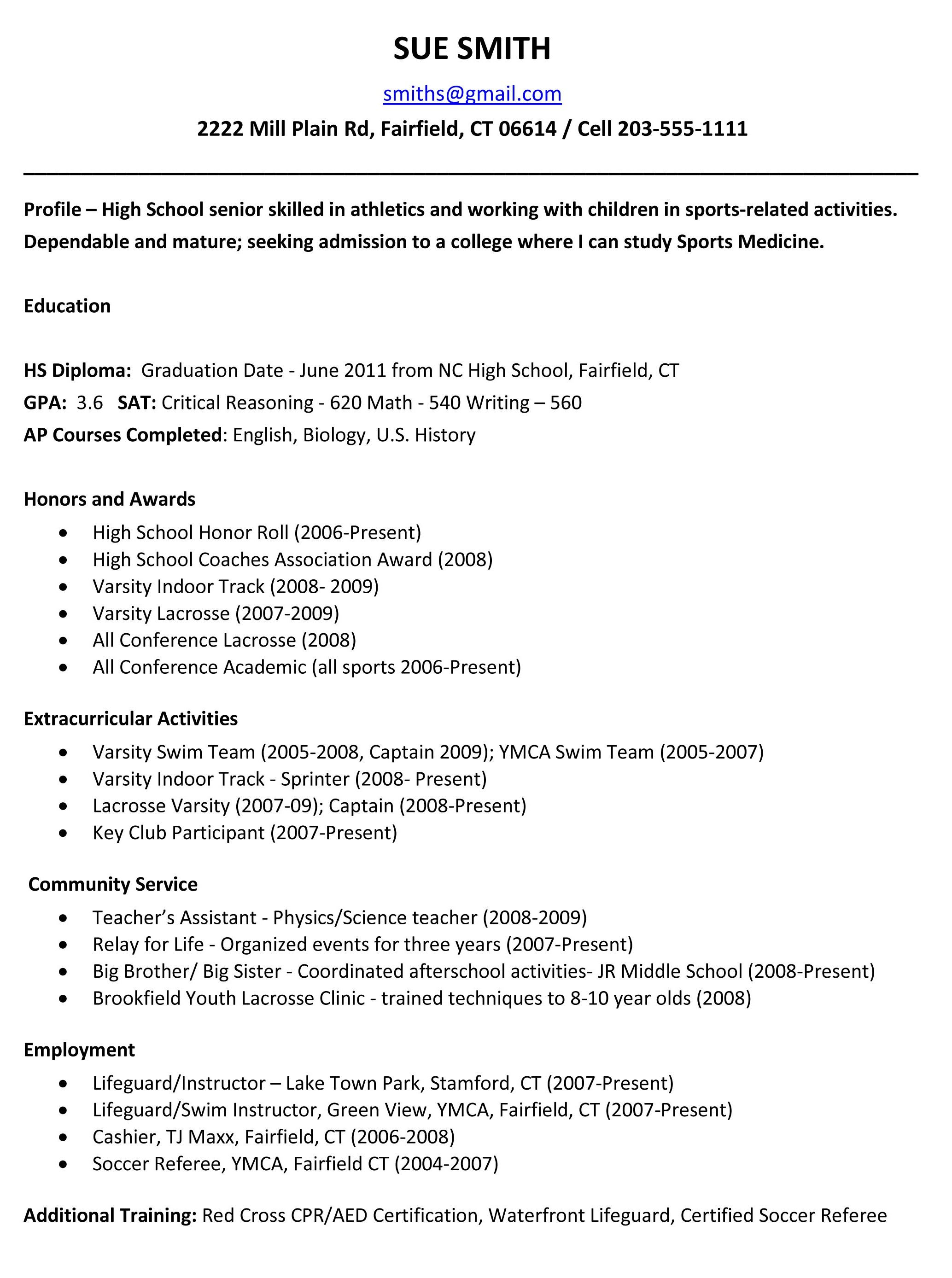 Common App Resume Example - Pin by Resumejob On Resume Job Pinterest