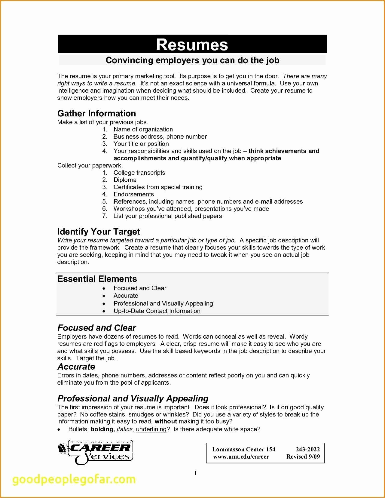 Components Of A Resume - Ponents A Resume Professional Baseball Player Resume