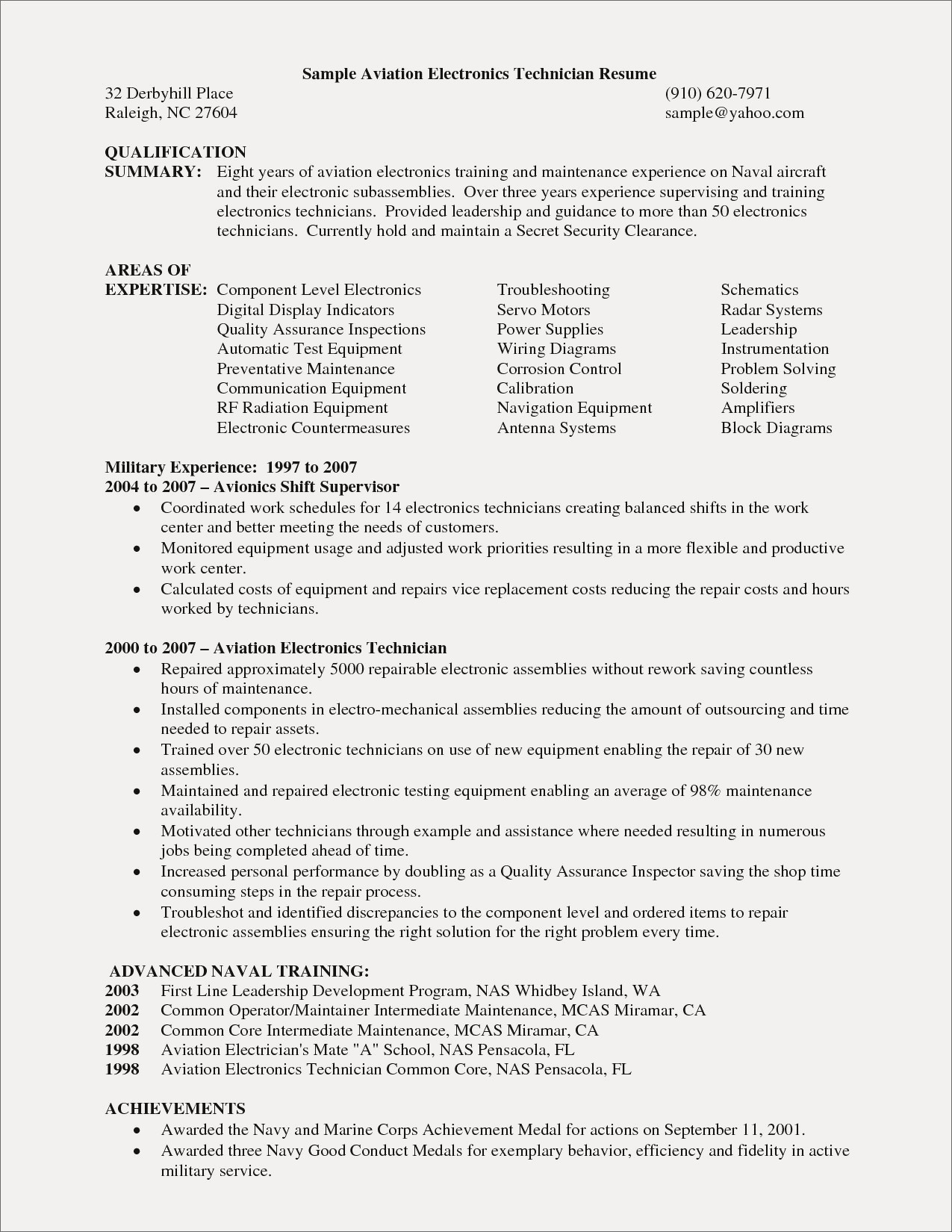 Components Of A Resume - Technician Resume Examples Best Digital Resume Simple Elegant