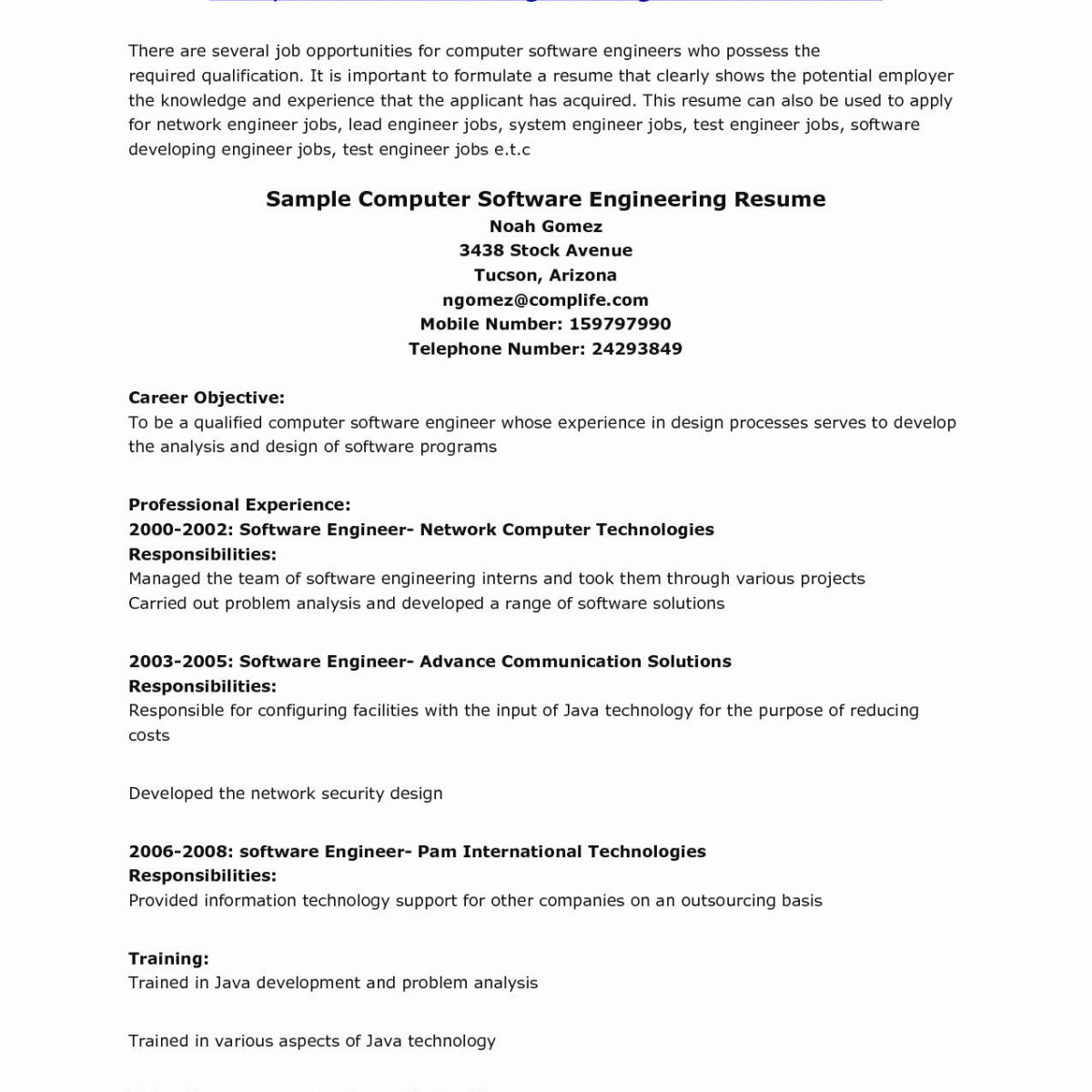 Computer Engineer Resume Template - Resume Document Cute Resume format Doc Unique Fresh Resume Template