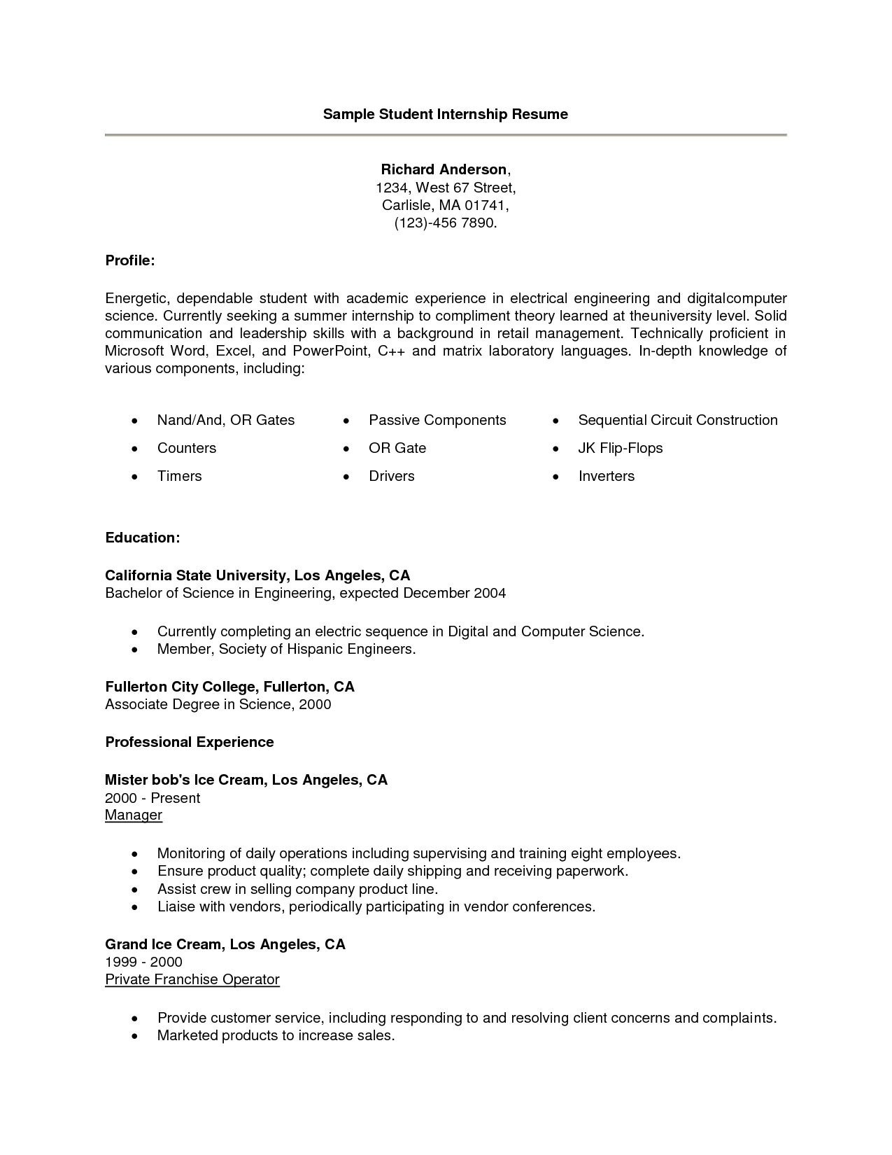 Computer Science Internship Resume - Internship Resume Template Fresh Luxury Grapher Resume Sample