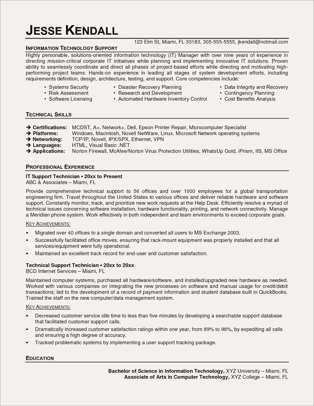 Computer Technician Resume Template - Technician Resume Examples New Auto Mechanic Resume American Resume