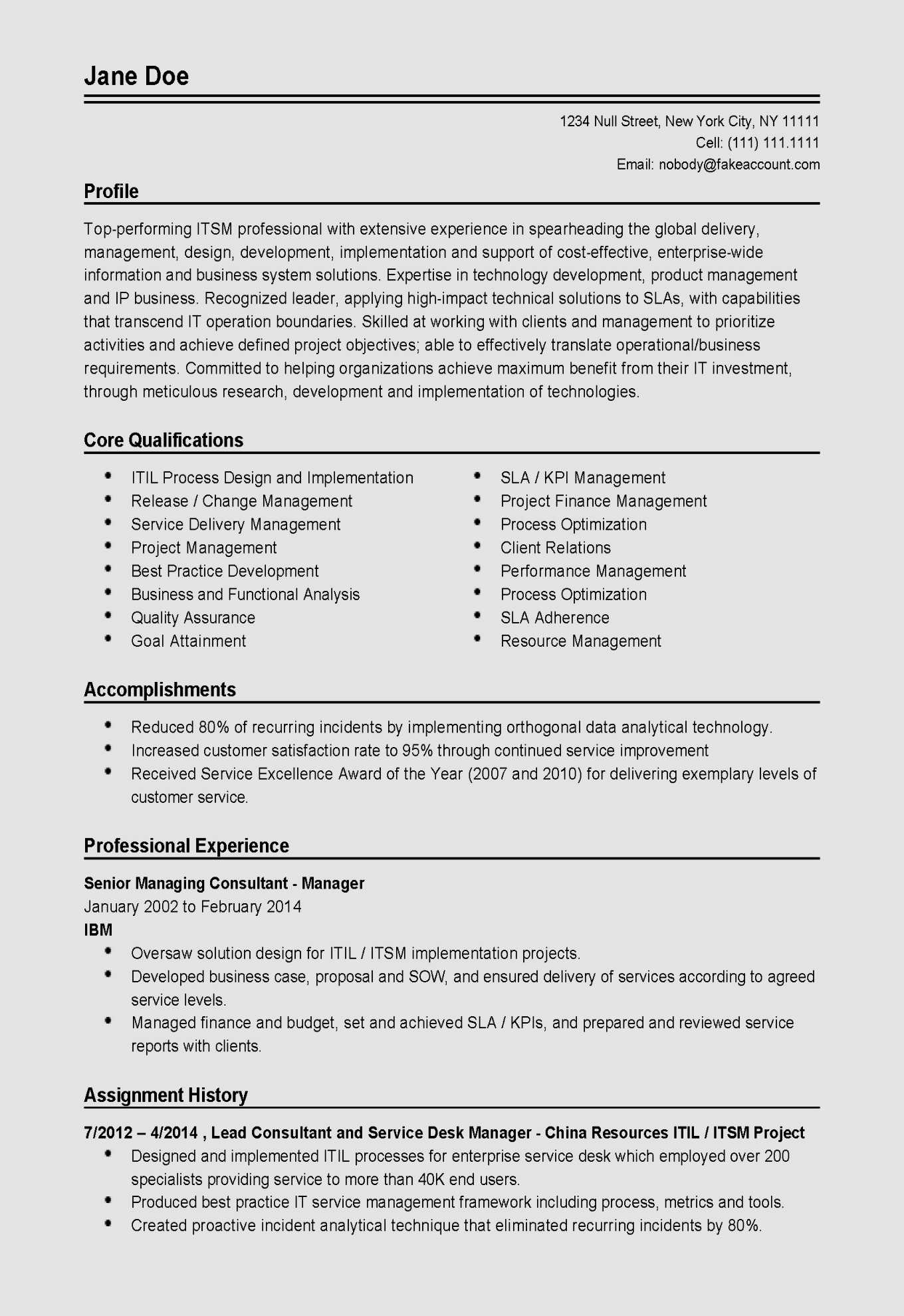 Consulting Resume Template - 18 top Professionals Resume Template Modern Free Resume Templates