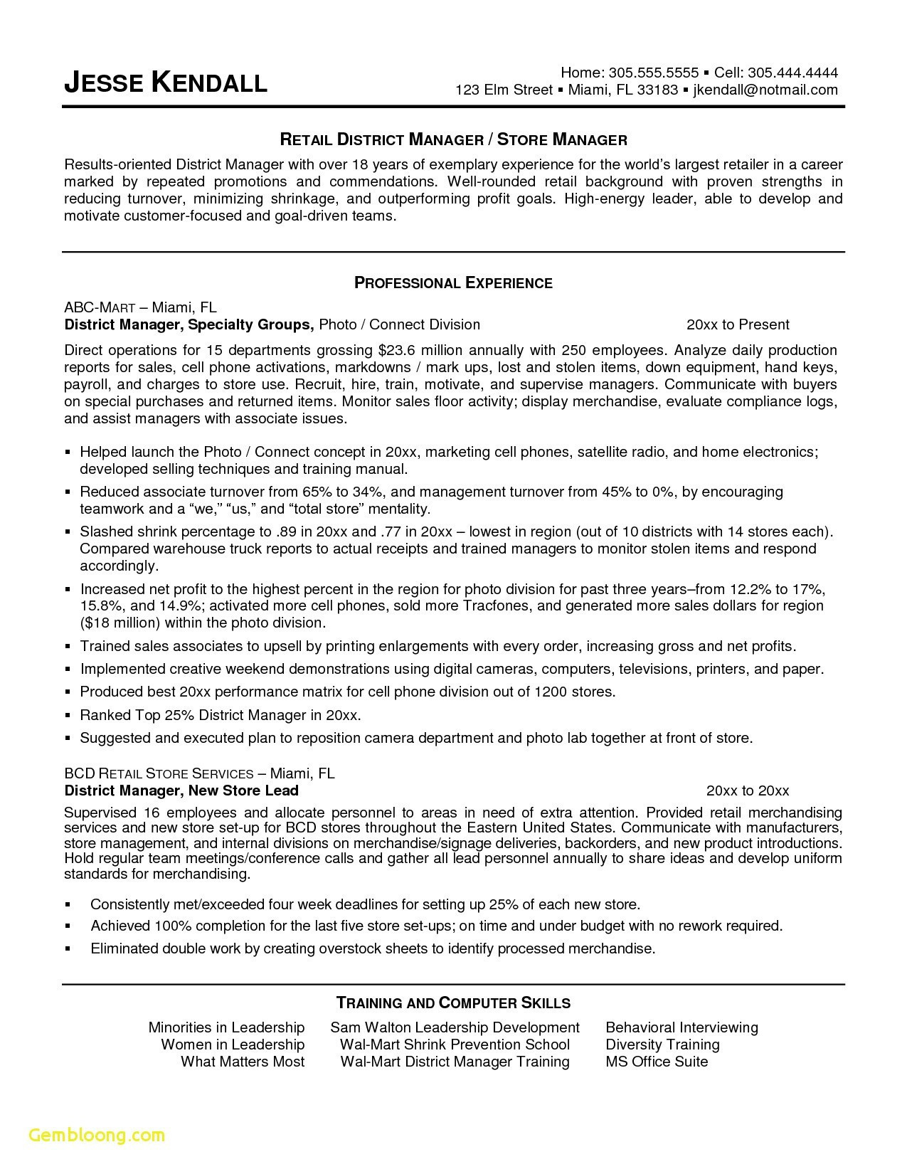 Contract Manager Resume Sample - Showroom Sales Resume Awesome Retail Sales Manager Cv Examples