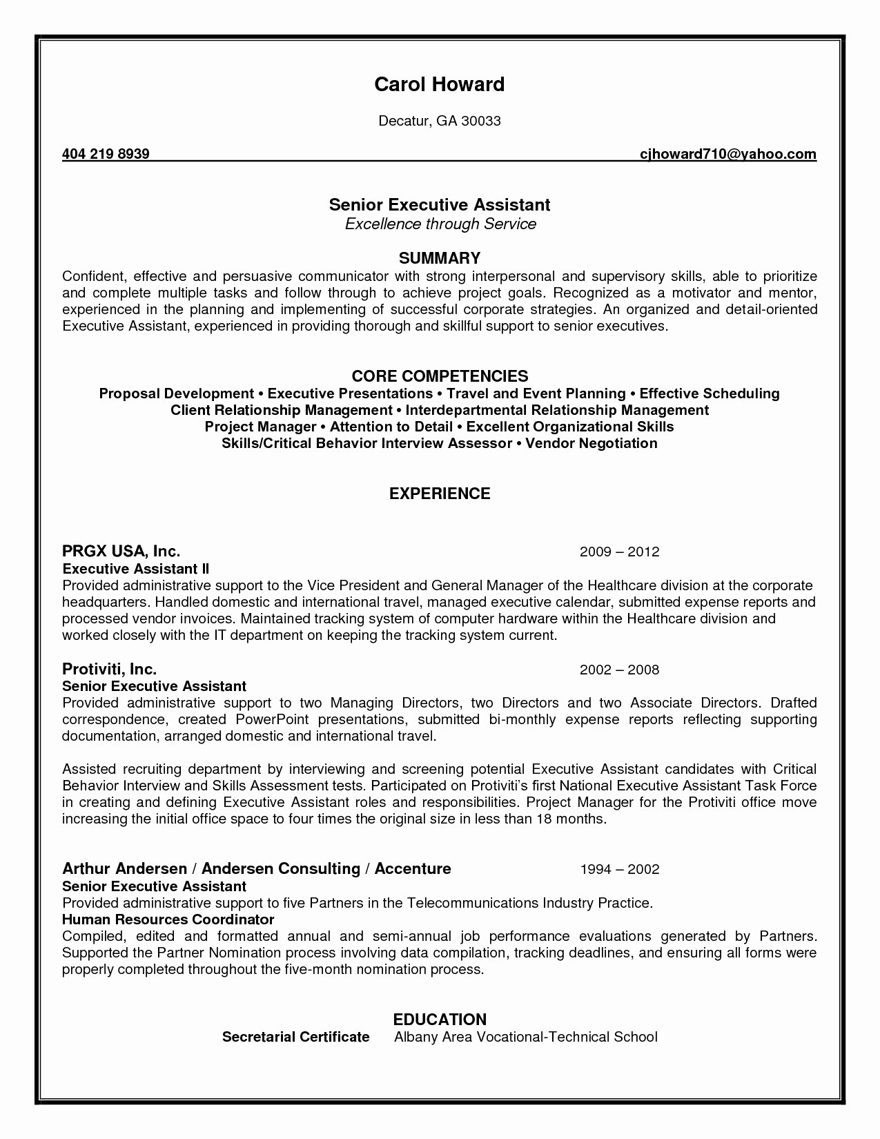 Core Competencies Resume - Executive assistant Resumes Unique Resume Template Executive