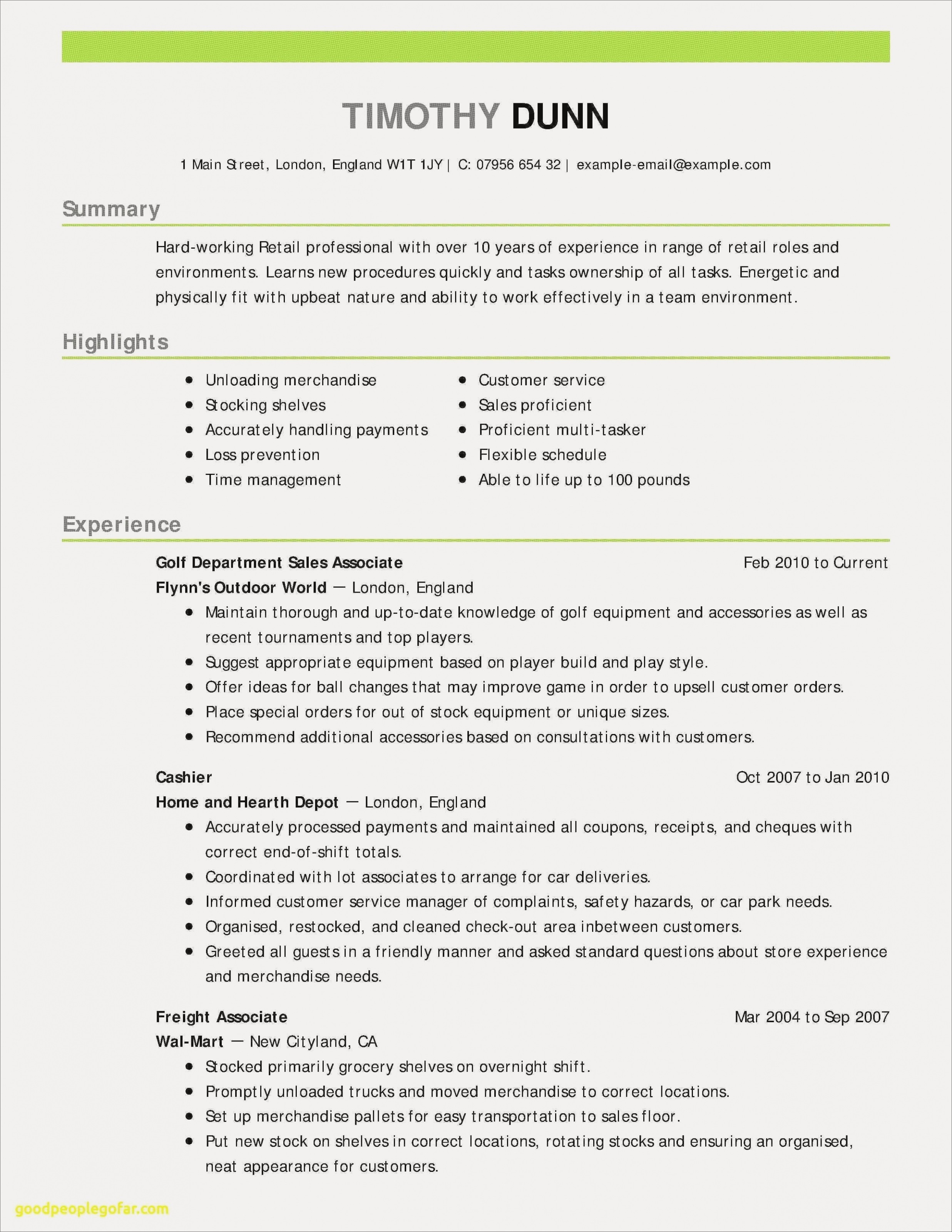 Correct Resume format - New Resume Template Customer Service