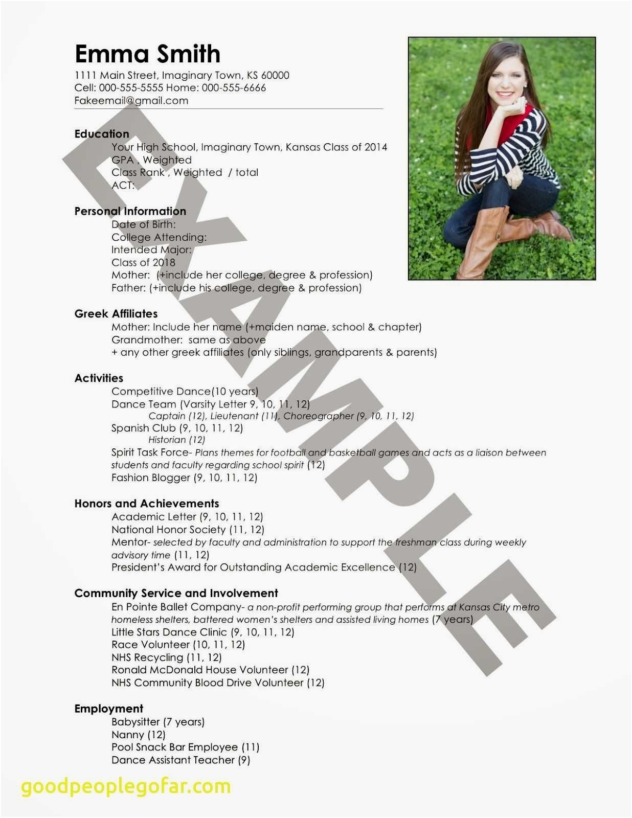 Create A Free Resume - Resume Help Free Awesome Fresh Entry Level Resume sorority Resume 0d