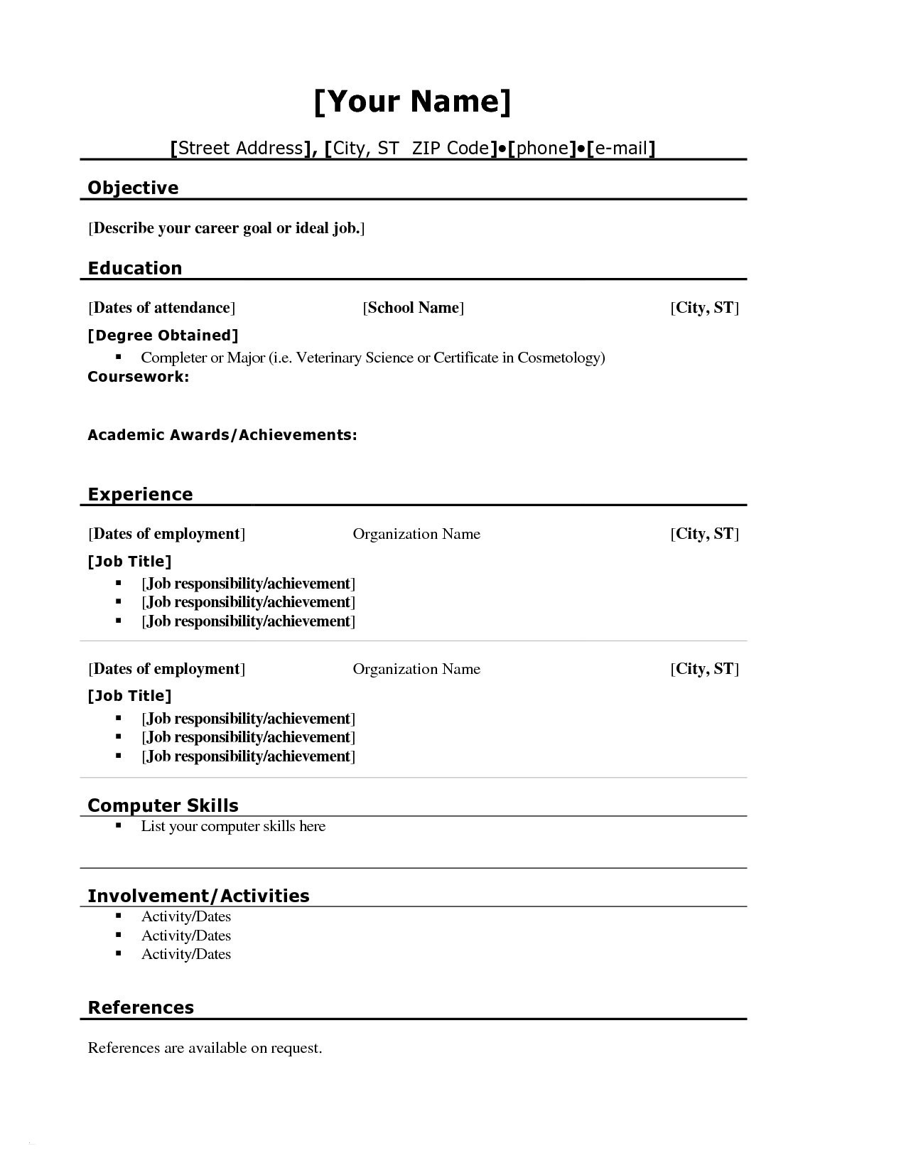 Creating A Resume - Creating A Resume for Highschool Students New New Grapher Resume