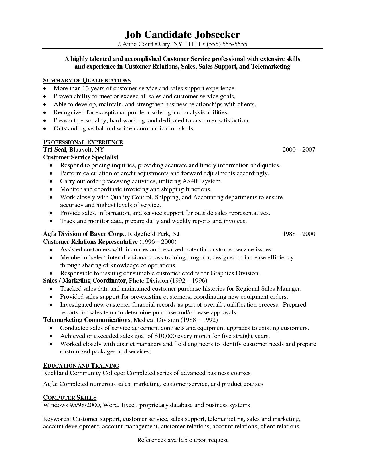 Customer Service Experience Resume - Resume Skills Examples Customer Service Refrence Beautiful Grapher