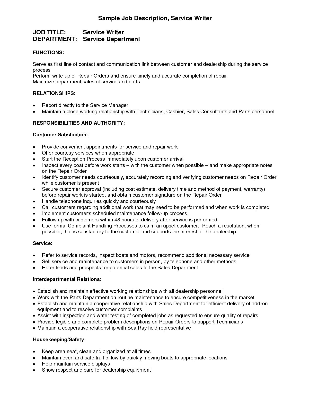 Customer Service Manager Job Description for Resume - Automotive Service Manager Jobs Best 24 Awesome Customer Service