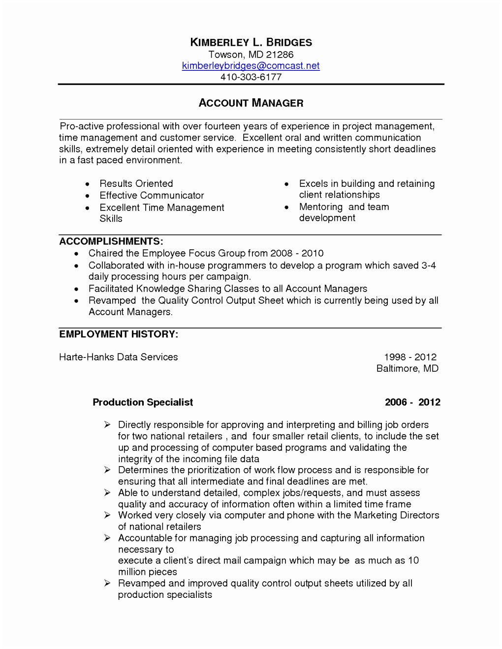 Customer Service Manager Resume Template - Customer Service Manager Resume Sample