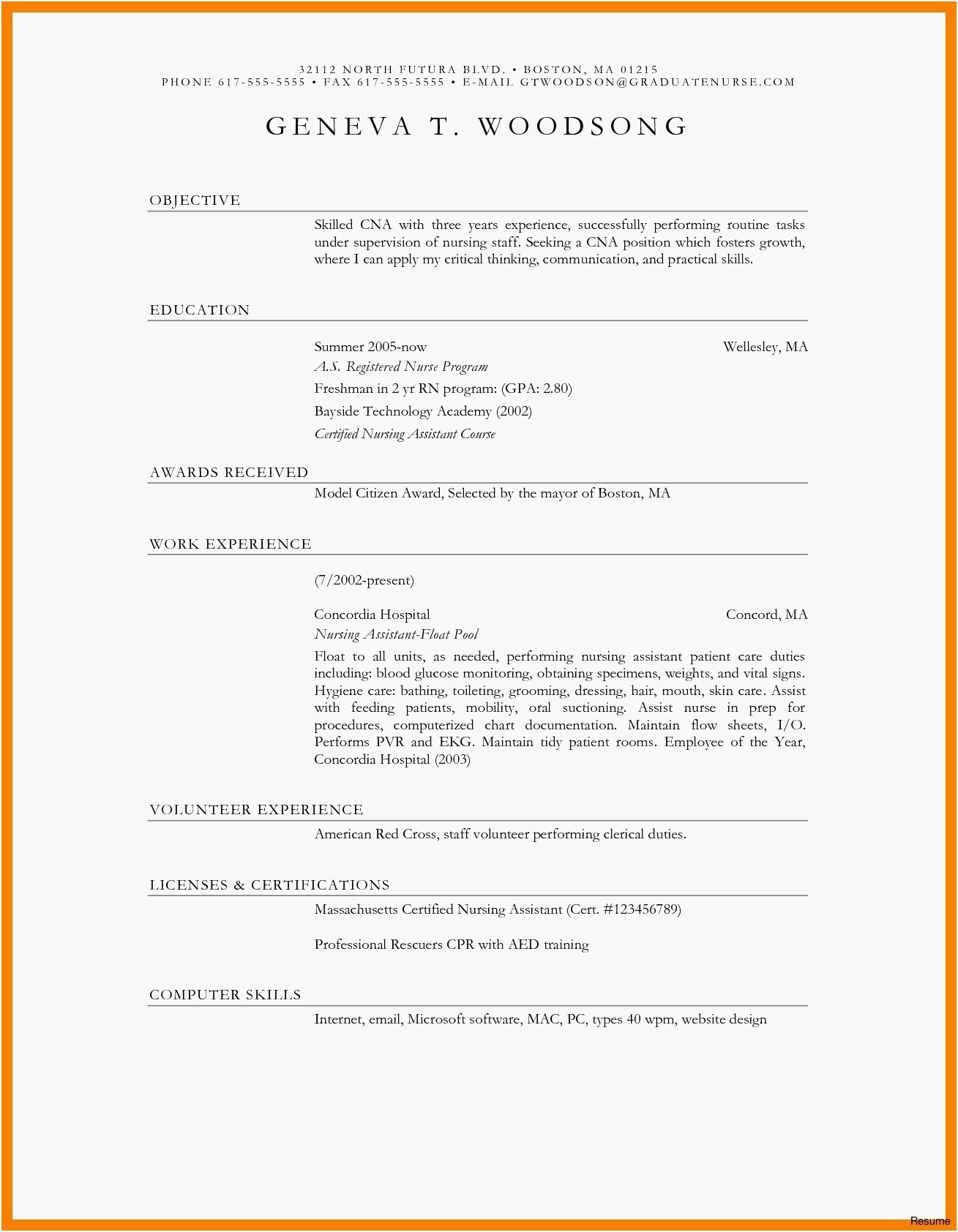 Cyber Resume - Entry Level Cyber Security Resume