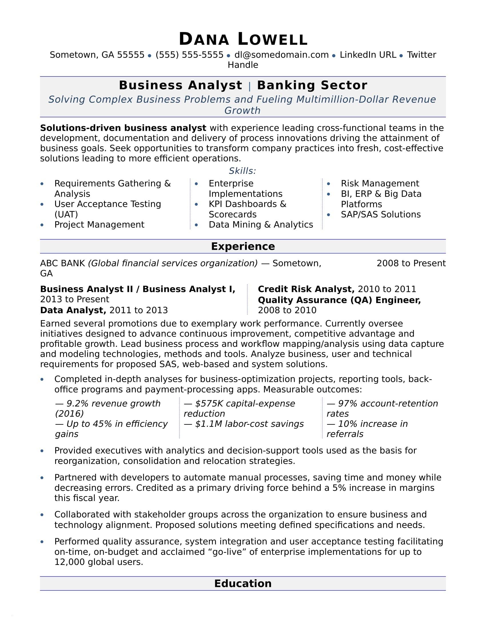Data Analysis Resume - Entry Level Business Analyst Resume Awesome Entry Level Data Analyst