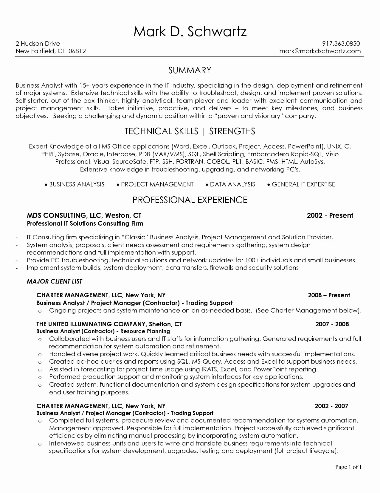 Data Analysis Resume - Business Analyst Resume Sample Free Inspirationa Data Analyst Resume