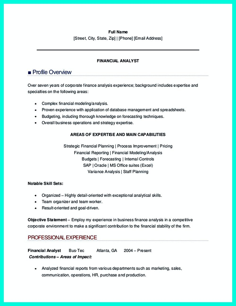 Data Analytics Resume - Resume for Financial Analyst Unique Lovely Sample College
