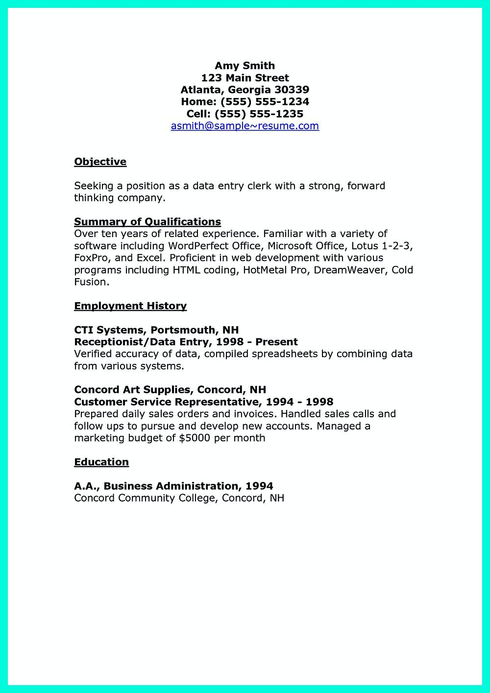 Data Entry Job Description for Resume - Pin On Resume Sample Template and format Pinterest