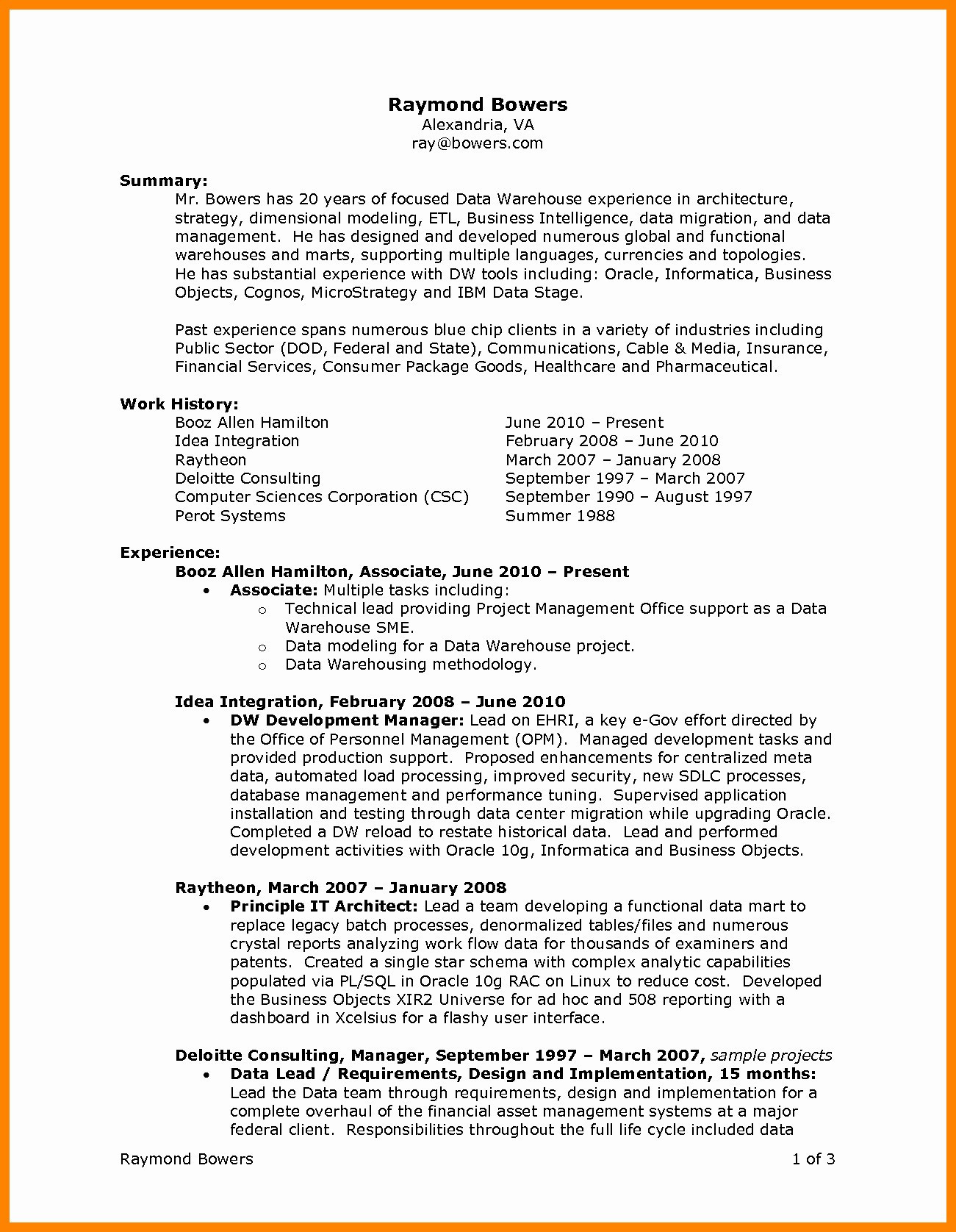 Data Warehouse Resume - Resume for Internal Promotion Template Free Downloads Beautiful