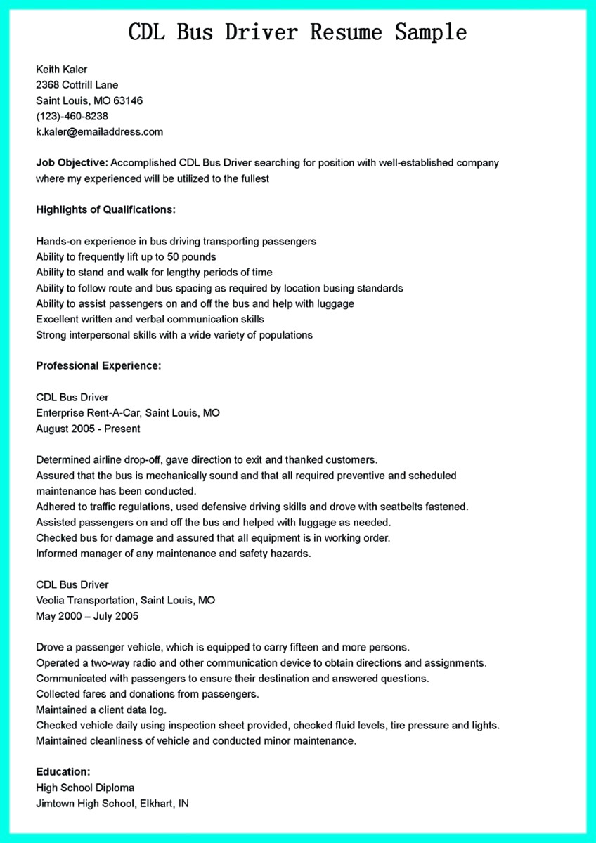 Delivery Driver Resume Examples - 38 Unbelievable Cdl Driver Resume