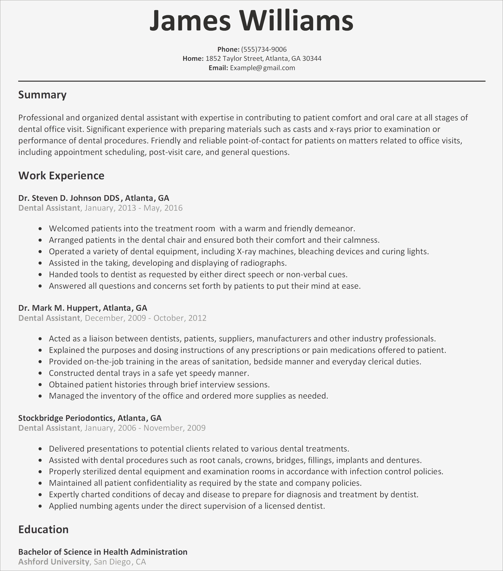Dental assistant Resume Examples - Dental assisting Cover Letter