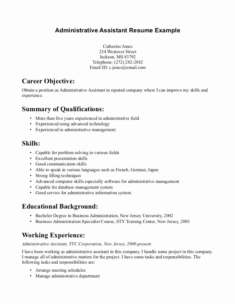 Dental assistant Resume Examples No Experience - Dental assistant Resume Templates Awesome Executive Administrative