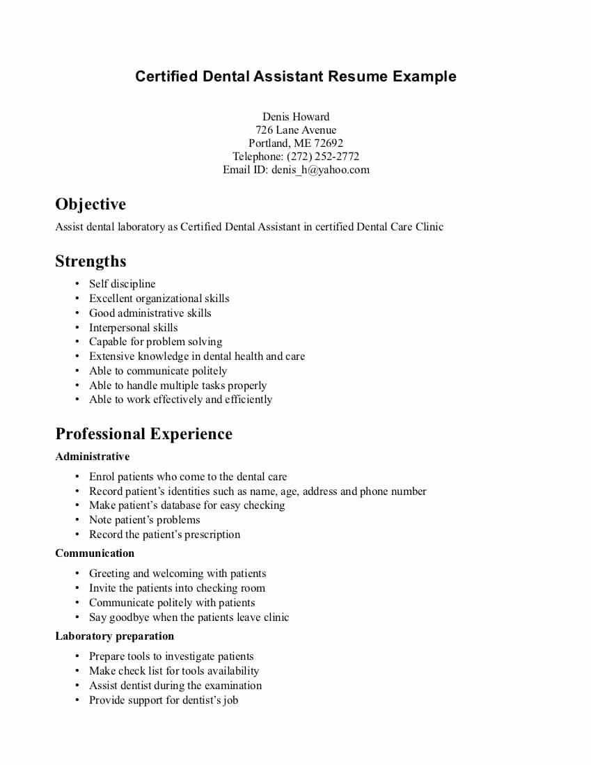 9 Dental Assistant Resume Objective Examples