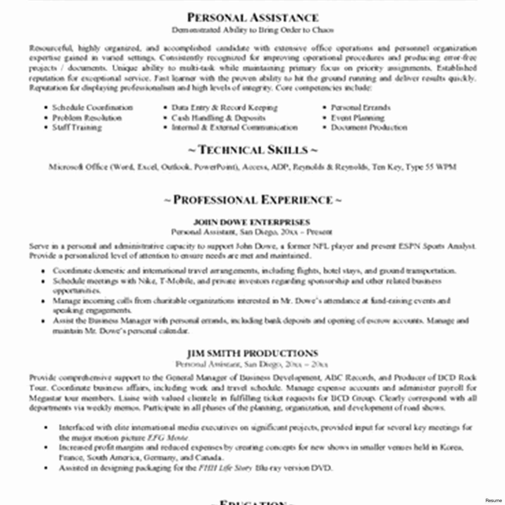 dhs personal assistant job description Collection-Personal assistant Job Description Resume 3-p