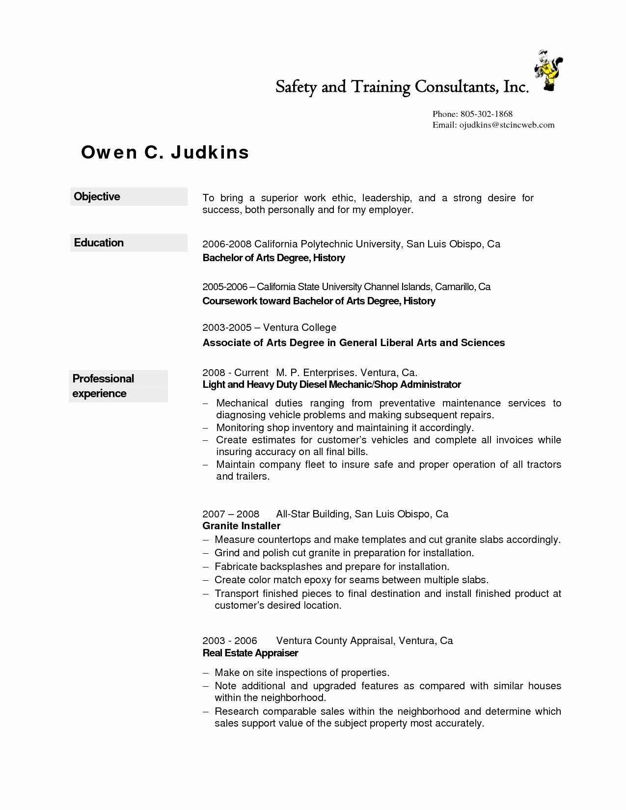 Dialysis Technician Resume Objective - Dialysis Technician Resume Sample Lovely New Generator Repair Sample