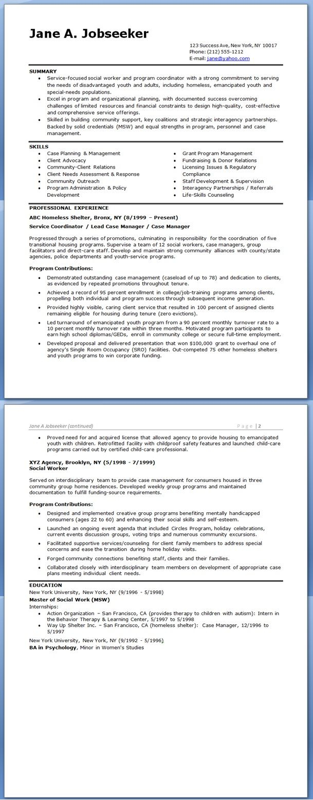 Direct Care Staff Resume - social Worker Resume Sample Templates