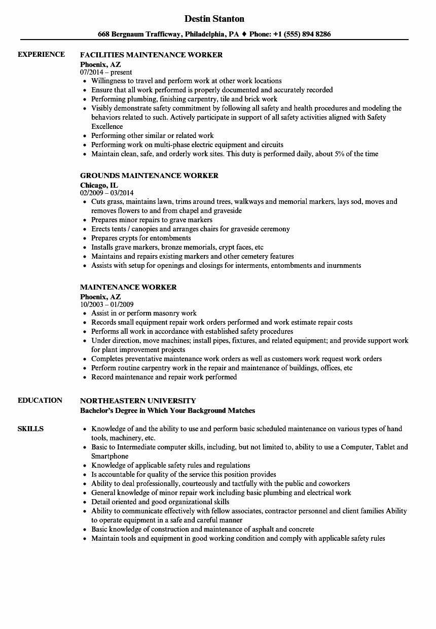 Direct Care Worker Resume - Resume Templates for Maintenance Worker Direct Care Staff Duties