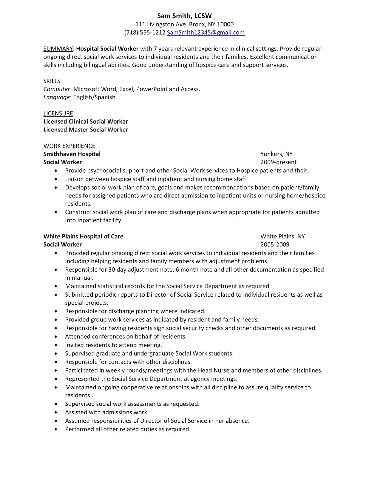 Direct Care Worker Resume - 46 Awesome Resume Summary Examples